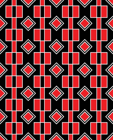 Geometric seamless background in red and black colors Stock Vector - 6572018