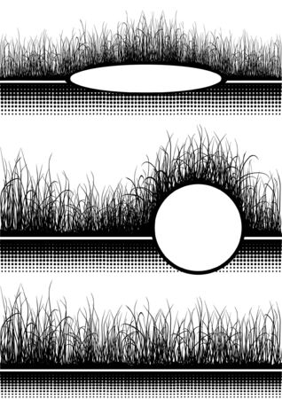 Black grass isolated on white Stock Vector - 6754824