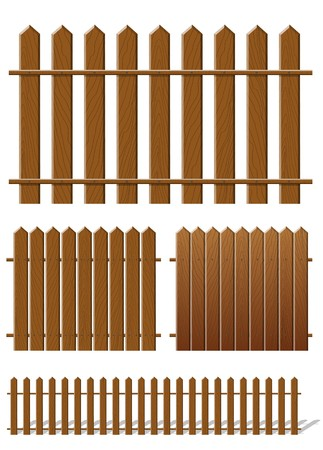 Brown fence with wooden texture Vector