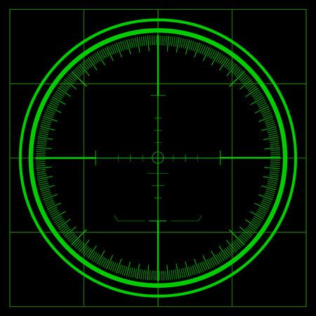 snajper: Ekran radaru Ilustracja