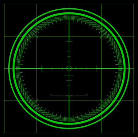 Radar screen Stock Vector - 8003530