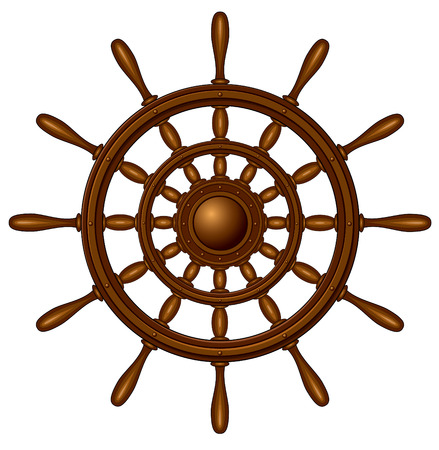 timon barco: Volante - aislado en blanco