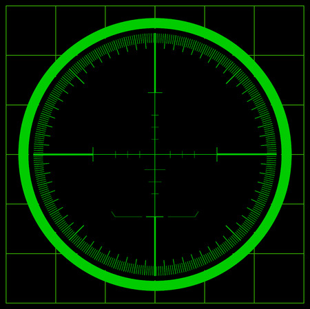 gun sight: Radar screen