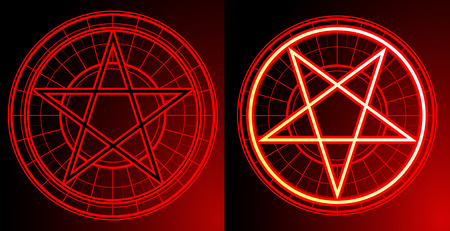 lucifer: Two Pentagrams on dark background