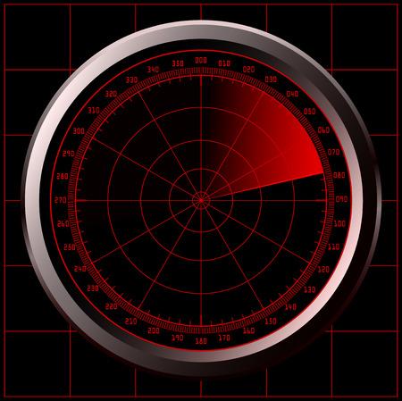 blip: Radar screen (sonar) Illustration