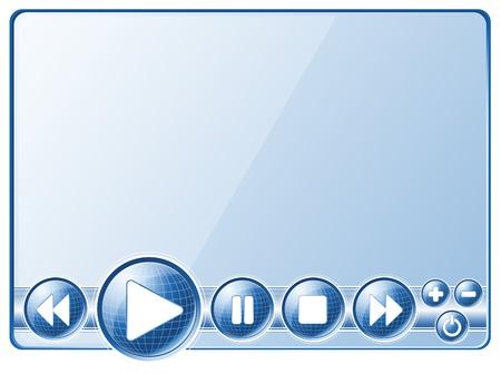 player controls: Controles del reproductor multimedia (botones).