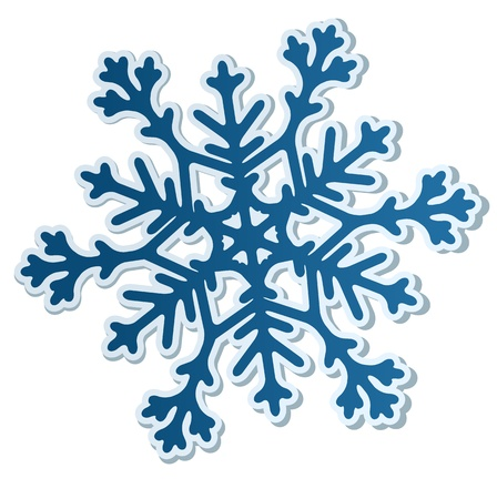 Beautiful paper snowflake isolated on white. Vector