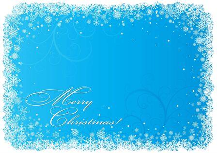 snowflake border: Christmas background with snowflakes