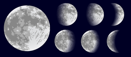 moon phases: Moon phases. Vector illustration.