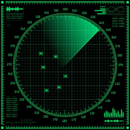 La pantalla de radar Ilustración de vector