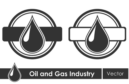 gas pump: Oil symbols. Corporate emblem. Vector illustration.