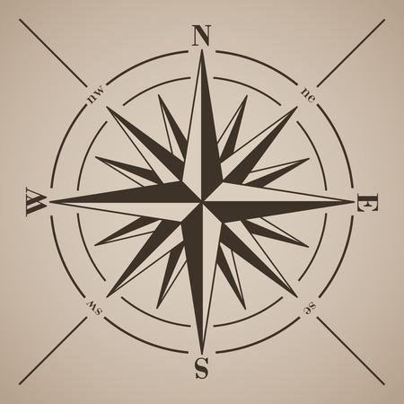 bussola: Compass rose. Illustrazione vettoriale.