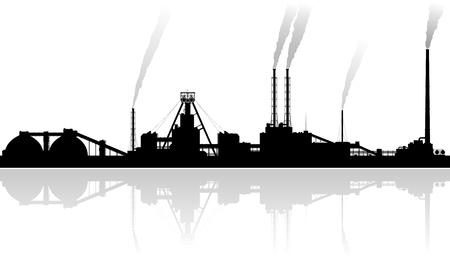 phosphate: Mineral fertilizers plant over grey background.