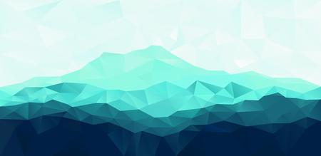 Driehoek geometrische achtergrond met blauwe bergketen Stock Illustratie