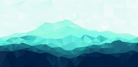 Triangle geometrical background with blue mountain range 免版税图像 - 43936741