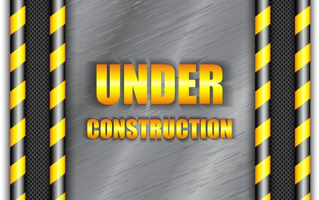 construction background: Under construction background with copy space. Vector eps10. Illustration