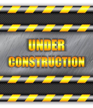 under construction sign: Under construction background with copy space. Vector eps10. Illustration