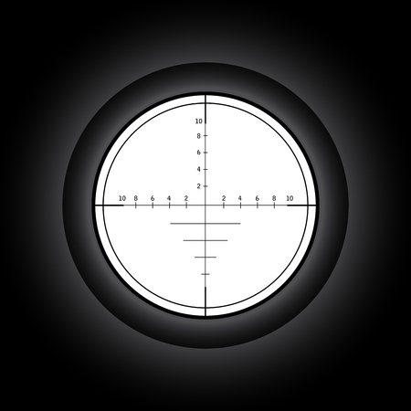 sharpshooter: Sniper scope. Vector illustration. Illustration