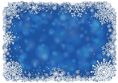 blue christmas background with white frame of snowflakes royalty free cliparts vectors and stock illustration image 49829009 - Blue Christmas Background