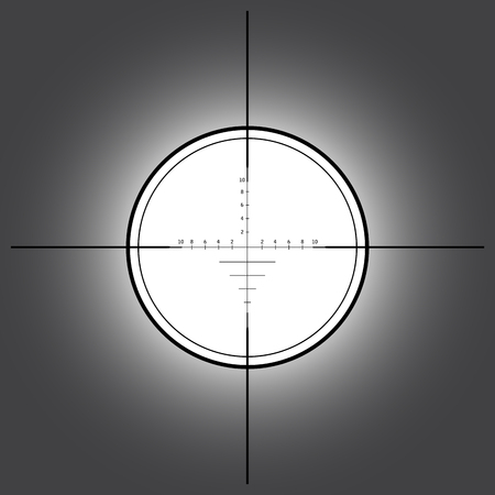 scope: Sniper scope over black background. Vector illustration.