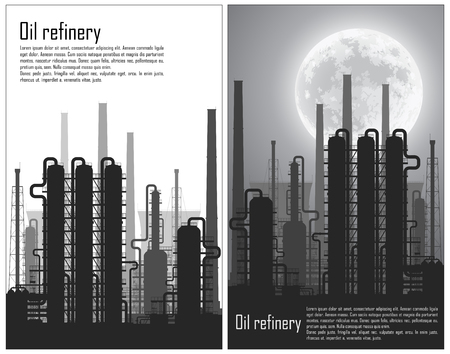 chemical plant: Set of Oil and gas refinery or chemical plant