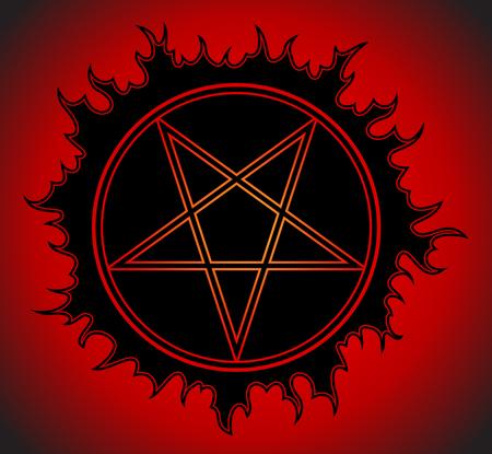 Black Pentagram icon.