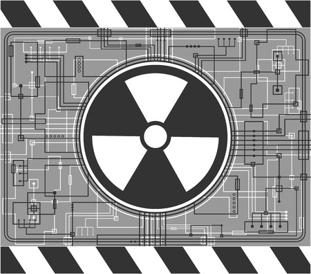 isotope: Nuclear background Illustration