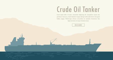 Oil tanker. Vector illustration