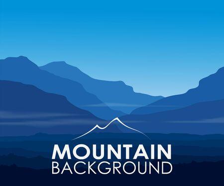 Blauwe bergen bij zonsopgang