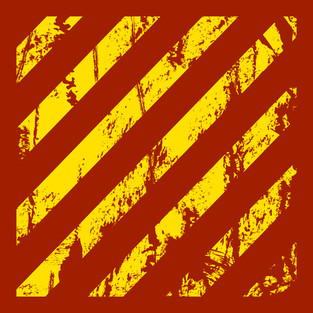 dangerous construction: Danger warning grunge background with red and yellow stripes. Vector illustration.