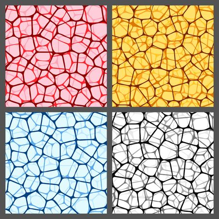 Abstract backgrounds set with colored reticulated nets. Rastrer illustration 免版税图像
