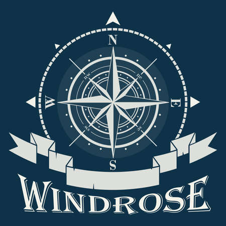 Corporate logo with windrose or compass rose
