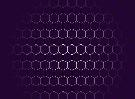 Abstract ultra violet background with hexagons. Vector