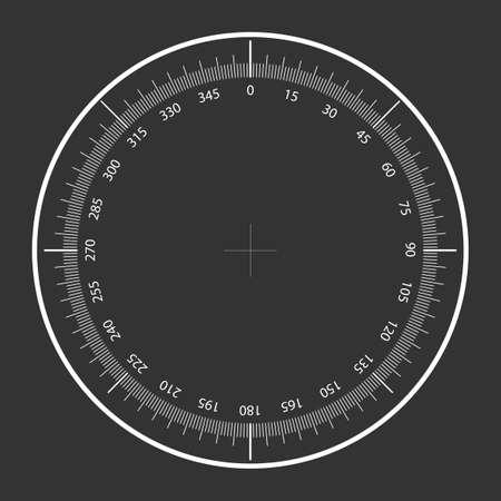 Sniper crosshair illustration white on grey background Vecteurs