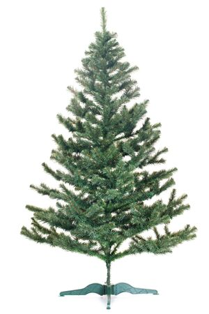 A new year tree before any decorations; isolated on the white background photo