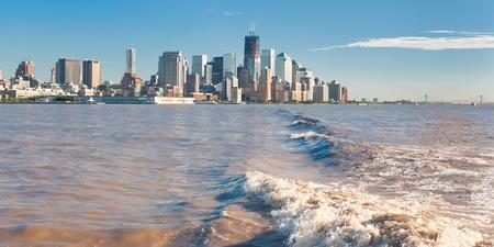 Vue de la ville de New York à Hudson