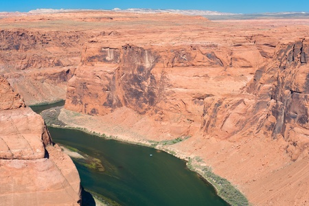 The bend of the Colorado river; USA photo