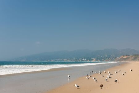 Pacific Ocean coast in Santa-Monica; GPS information is in the file Stock Photo - 11069244