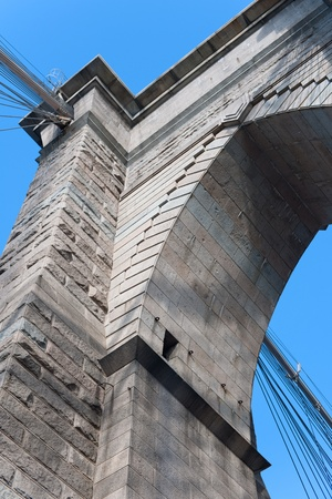 Bearing of Brooklyn Bridge in New York, USA; GPS information is in the file photo