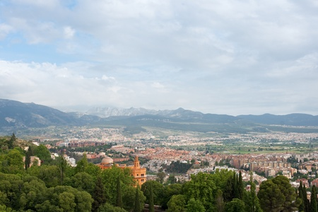 A magnificent views of the city of Granada from Alhambra photo