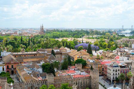sevilla: Grote vew van de stad Sevilla, Spanje
