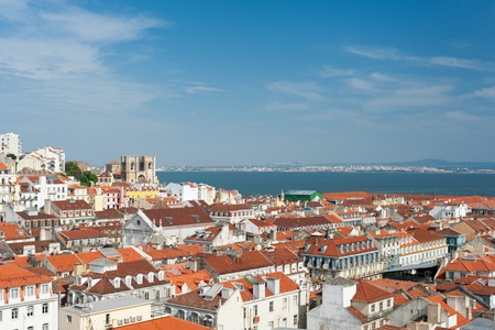 Great vew of the city of Lisbon, Portugal photo