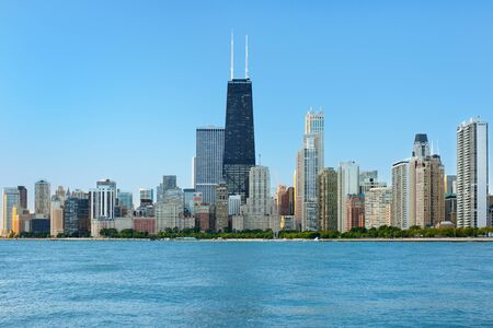 View of Chicago in the early morning; GPS information is in the file Stock Photo - 12852399