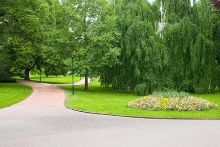 Walkway in Park Pepiner in Nancy, France; GPS information is in the file photo