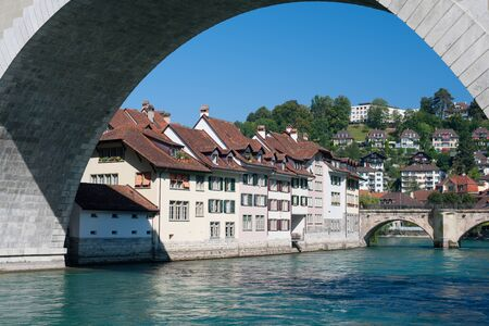 Wonderful view on old town of Bern over the Aare river   photo