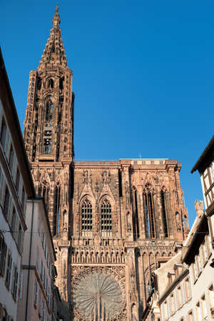 cathedrale: Cathedral of Strasbourg,  Stock Photo