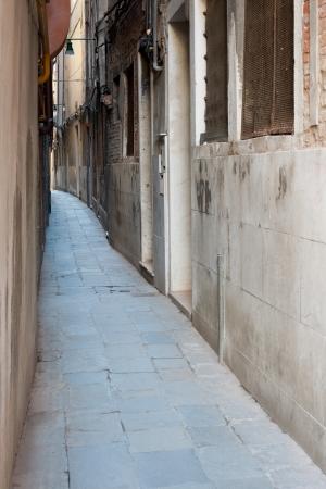 Narrow street of Venice, Italy
