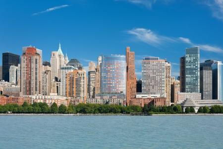 Belle vue sur l'été à New York du fleuve Hudson, informations GPS est dans le fichier