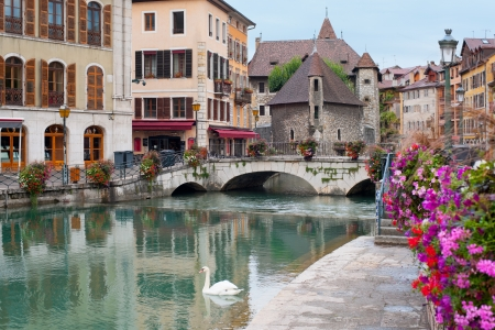 Wonderful view of Annecy and Palais de l'Isle in september. GPS information is in the file photo