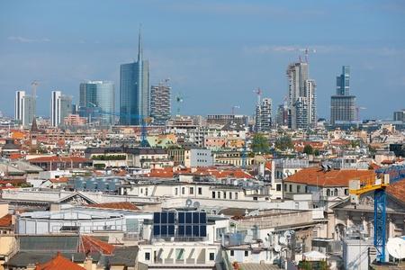 Urban view of Milan in summer day